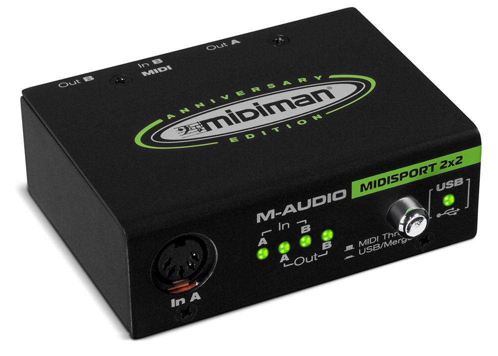 M-Audio MIDIsport 2x2 MIDI Interface, USB (Anniversary Edition)