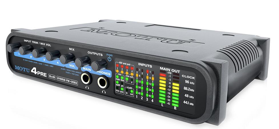 MOTU 4pre USB and FireWire Audio Interface