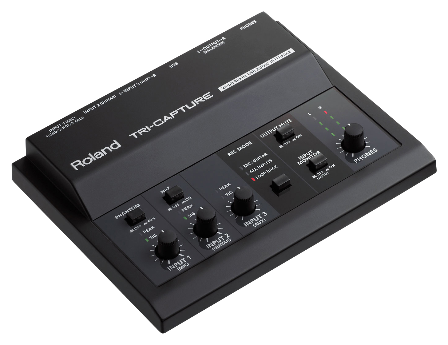 Roland TRi-CAPTURE USB Audio Interface (2-in/2-out)
