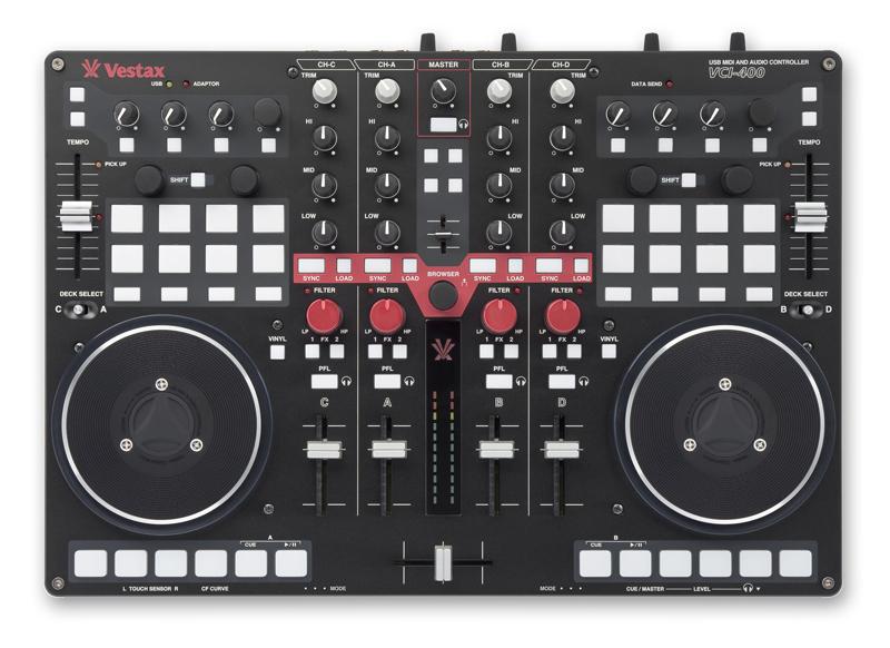 Vestax VCI400 USB MIDI DJ Controller and Audio Interface